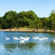 Aan Hyde Park in Londen